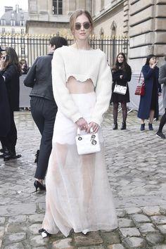 Chiara Ferragni au défilé Dior.