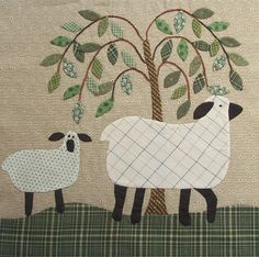 Sheep applique quilt by Geoff's mom