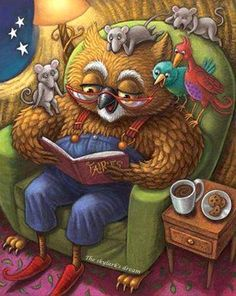 Tales of the forest - illustration by: Kathi Ember I Love Books, Good Books, Books To Read, My Books, Illustrations, Children's Book Illustration, Forest Illustration, Reading Art, Owl Art