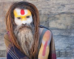 Sadhu, Pashupatinath, Kathmandu, Nepal, travel photography, portrait, fine art print, 8 x 10, wall art