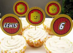 lego cupcake toppers printable FREE - Google Search
