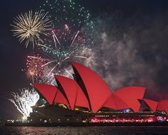 Sydney Celebrates Chinese New YearSYDNEY, AUSTRALIA - JANUARY 27: Fireworks light up the skyline over the Sydney Opera House lit with red floodlights on January 27, 2017 in Sydney, Australia. A number of events are being held across Sydney to celebrate the lunar new year and welcome the year of the rooster. (Photo by James D. Morgan/Getty Images)