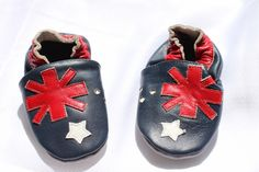Australian Flag Soft Sole Leather Baby Shoes - Australia Day - Not Another Baby Shop - Babies, Toddlers & Kids