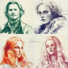 Beautiful sketches by ^alicexz at deviantArt. Subjects are some major Game of Thrones characters.