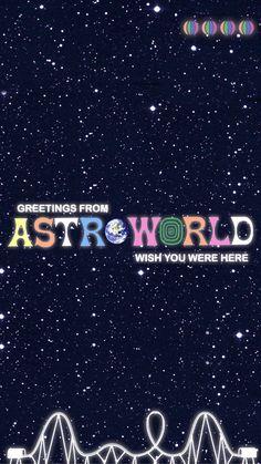 A wallpaper of Travis' Astroworld