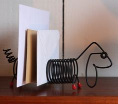 1950's American wire letter rack with pen holder tail. Lovely condition €35.00