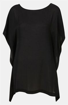 Topshop Sheer Waterfall Crop Top available at #Nordstrom