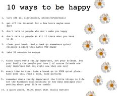 10 ways | to be happy