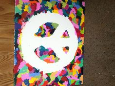 Melted wax peace sign art! Created by @lenseyray27