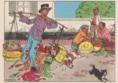Pagina met informatie over de indische boekjes met illustraties van Cornelis Jetses. Dutch East Indies, Dutch Colonial, Southeast Asia, Films, Posters, History, Drawings, Classic, Illustration