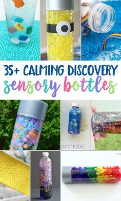 35 Calming Sensory Bottles To Make At Home | Calming Sensory Bottles | Sensory Bottles DIY | DIY Sensory Bottles | Calming Bottles | Sensory Activities |  via @myhomebasedlife