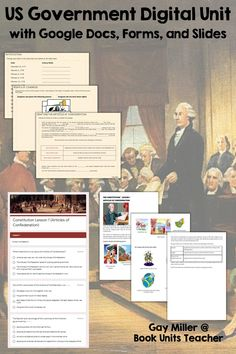 Constitution contains digital resources created with Google Apps and interactive organizers which may be glued onto a file folder to form a lap book, added to interactive notebooks, or used individually.