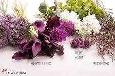 Summer Lavender Purple Bouquet - see full DIY tutorial on Flower Muse blog: http://www.flowermuse.com/blog/ranunculus-care-and-handling/
