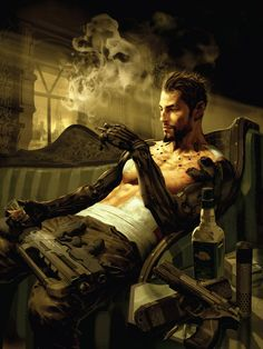 This is an image from a cyber punk themed game called Deus Ex: Human Revolution the character is Adam Jensen. He is involved in an event that leaves him on deaths door. We is augmented having his body reconstructed of metal becoming part man part machine. He has become integrated with technology to where is he human or machine or both. I chose the image as it embodied a physical bridge between man and technology.