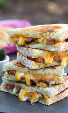 Cajun Grilled Cheese spiced up with Andouille Sausage