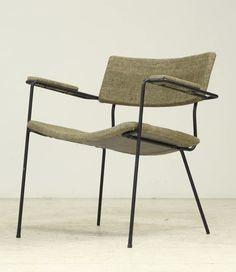Arthur Umanoff; Enameled Metal Armchair, 1950s.