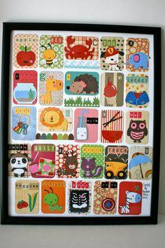 Alfabeto carte messe insieme come un insieme di HandmadecardsbyHJM