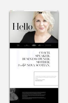 A website to position her as the expert and invite visitors to take action. A personal brand website design that is classic yet commanding. Personal Website Design, Simple Website Design, Website Design Layout, Homepage Design, Wordpress Website Design, Web Layout, Branding Website, Website Ideas, Website Designs