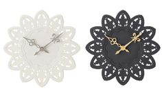 I love these wall clocks! I doubt I'd ever be able to decide between white or black though, lol!