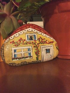 Handpainted Stone by PaintedEtsyStone on Etsy