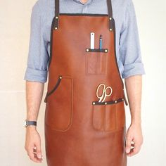 Handcrafted leather apron - The crafts person