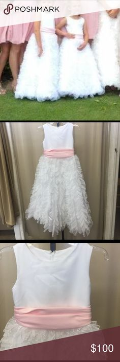 Size 7 flower girl dress ~NO TRADES~~PLEASE ASK ALL QUESTIONS BEFORE PURCHASING~ALL OFFERS MUST BE MADE THROUGH THE OFFER BUTTON. OFFERS LEFT IN COMMENTS WONT BE ACKNOWLEDGED~NO LOWBALL OFFERS~NO HOLDS~ NOT DOING MUCH DISCOUNTING MOST ITEMS NWT AND ALREADY DISCOUNTED~ Dresses