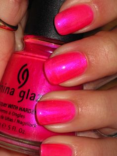 China Glaze - Pink Voltage, great dupe if you can't find Essie's - Tour de Finance!