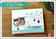 Cozy Critters for Mimeograph Monday with Sandi and Diana, www.stampinwithsandi.com