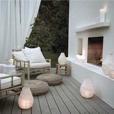 Lighting up your outdoor spaces is important, if you like spending time outdoors at night. Let's consider some ideas how to illuminate your terrace or patio. Outdoor Rooms, Outdoor Living, Outdoor Furniture Sets, Outdoor Decor, Ikea Outdoor, Outdoor Seating, Luxury Furniture, Furniture Decor, Exterior Design