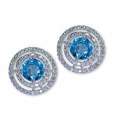 This is one additional charming color gem stone earrings - Parris Jewelers, Hattiesburg, MS #jewelry