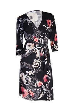 The Iconic Wrapped Dress - Romantic Mixed Floral - Customise Wrap Dress by Kristine's Collection Couturiere
