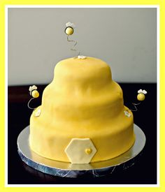 Bumble Bee Hive Baby Shower Cake by Snacky French