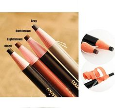WellieSTR 48PCS (4 Color Mixed) Peel-Off Waterproof Eyebrow Pencil Cosmetic Pencil ,Make Up Pull eyebrow pencil ,subtle stereoscopic color - 12pcs per color -- Remarkable product available now. : Makeup Supplies