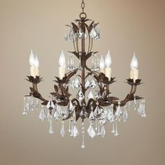 Kathy Ireland Venezia Bronze. New Bathroom Chandelier. A girl can never have enough bling!