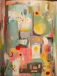 mixed media canvas - Semi abstract