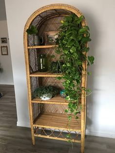 Items similar to Vintage Rattan Curio Shelves on Etsy Massage Room Decor, Wicker Shelf, Aesthetic Room Decor, Boho Living Room, Diy Bedroom Decor, Wicker Bedroom, Home Decor, Cozy Room, Decoration