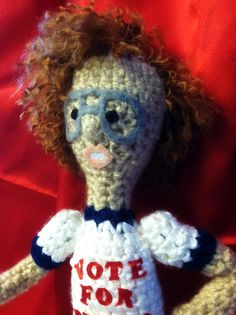 Napoleon Dynamite crocheted doll (Love It @Peggy Sevre !)