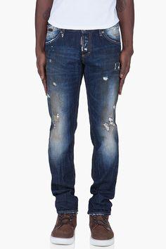 DSQUARED2 Slim Navy Revolution Jeans