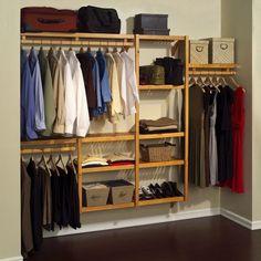 John Louis Standard Solid Wood Closet System (Standard Solid Wood Closet System Honey Maple), Brown