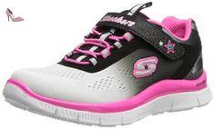 Skechers Appeal, Sneakers Basses fille, Blanc (Blanc/Noir/Fuchsia), 32 EU (UK child 13 Enfant UK) - Chaussures skechers (*Partner-Link)