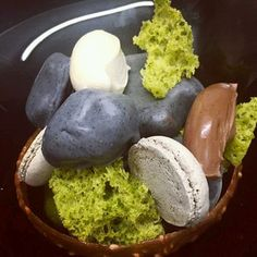"""""""Roks and Moss"""" at Restaurant Mark Greenaway, Edinburgh. 