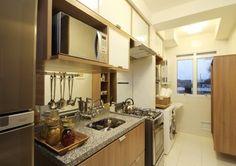 cozinha pequena e lavanderia integradas