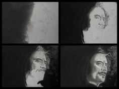 "A3 Charcoal Drawing SOA Alex ""Tig"" Trager. (Kim Coates)"