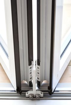 GFD Homes Real Aluminium Bifolding Doors to suit any home, from the simplest to most complex we can . Upvc Sliding Doors, Hanging Sliding Doors, Sliding Door Design, Door Gate Design, Front Door Design, Balcony Doors, Patio Doors, Wooden Window Blinds, Barn Door Designs