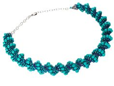 Ocean Waves Spiral Necklace - materials list and verbal directions ~ Seed Bead Tutorials