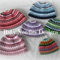 5 SIZES! Ripple - It hat set - via @Craftsy