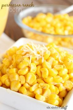 Parmesan Ranch Corn - So this side dish was a win win for me and the family. It's so easy to make, and it tastes amazing! Just 5 simple ingredients, and it's done in a matter of minutes.