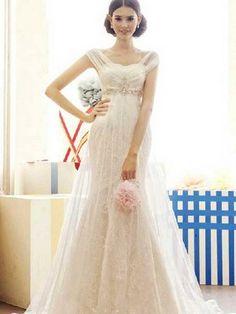 e55faf33d9 Esküvői empire stílusú fotók csipke esküvői ruhák, frizurák és  belsőépítészeti (fotó)