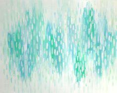 "Sea foam by Ann Jackson 30"" x 40"" Acrylic on wood panel. www.annjackson.weebly.com"