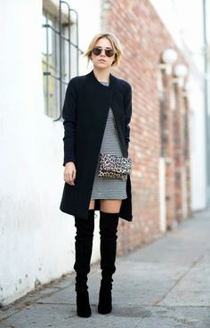 Today, we have made a collection of 15 street style looks to show you how you can look stylish in over the knee boots and we hope that you will like them. Quoi Porter, Moda Fashion, Street Style Looks, Mode Inspiration, Over The Knee Boots, Stuart Weitzman, Passion For Fashion, Autumn Winter Fashion, What To Wear